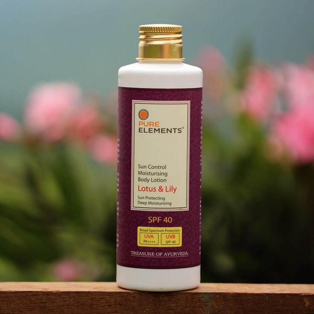 Lotus & Lily Sun Control Moisturising Body Lotion SPF 40