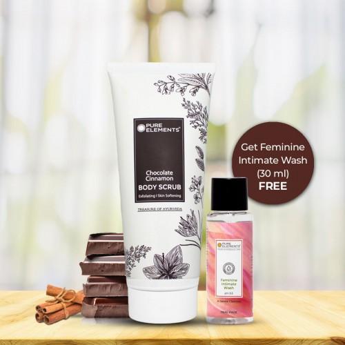 Chocolate Cinnamon Body Scrub (Get 30 ML Feminine Intimate Wash Free)