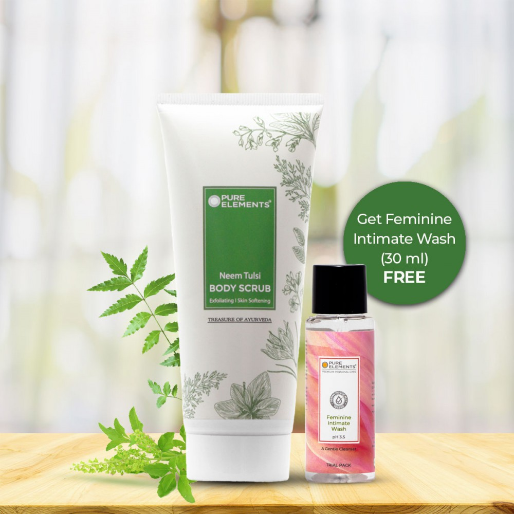 Neem Tulsi Body Scrub (Get 30 ML Feminine Intimate Wash Free)