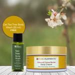 Almond Cocoa Butter Body Cream (Get 30 ML Tea Tree Body Wash Free)