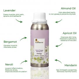 Aromatherapy Massage Oil - Energy
