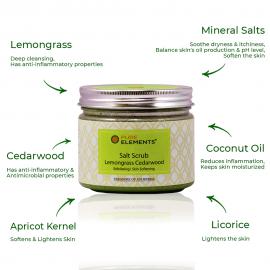 Lemongrass Cedarwood Salt Scrub