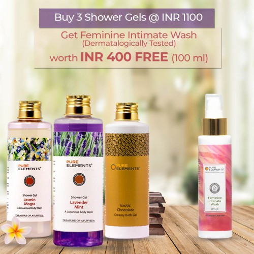 A Set of 3 Luxurious Shower Gels (Feminine Intimate Wash 100 ML FREE)