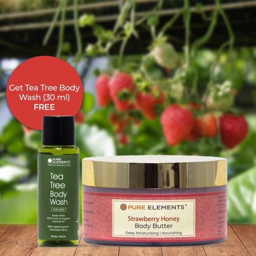 Strawberry Honey Body Butter (Get 30 ML Tea Tree Body Wash Free)
