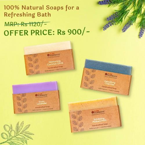 A Set of Four Handmade & 100% Natural Soaps
